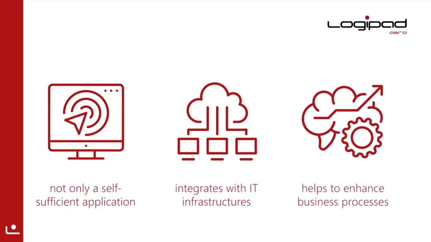 Logipad is not just a self-sufficient EFB application, it's an application that integrates seamlessly with existing IT infrastructures. It helps you to support and enhance existing business processes.
